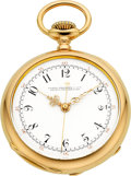 Timepieces:Pocket (pre 1900) , Patek Philippe & Cie Rare Center Seconds Gold Pocket Watch, circa 1890. ...