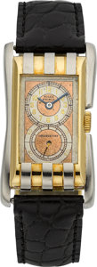 Timepieces:Wristwatch, Rolex Rare Two Tone Gold Prince Brancard, circa 1930. ...