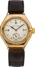 Timepieces:Wristwatch, Rolex Ref. 2136 Early Rose Gold Octagonal Wristwatch, circa 1930....