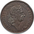 Colonials: , 1723 1/2P Hibernia Halfpenny MS64 Brown PCGS. PCGS Population(26/9). NGC Census: (11/5). . From The Northern LightsCol...