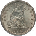 Seated Quarters: , 1876-S 25C MS64 PCGS. PCGS Population (72/27). NGC Census: (73/24).Mintage: 8,596,000. Numismedia Wsl. Price for problem f...