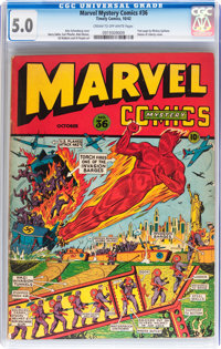 Marvel Mystery Comics #36 (Timely, 1942) CGC VG/FN 5.0 Cream to off-white pages