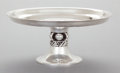 Silver Holloware, American:Tazze, AN INTERNATIONAL SILVER COMPANY SILVER TAZZA, DESIGNED BY ALPHONSELA PAGLIA. International Silver Co., Meriden, Connecticut...