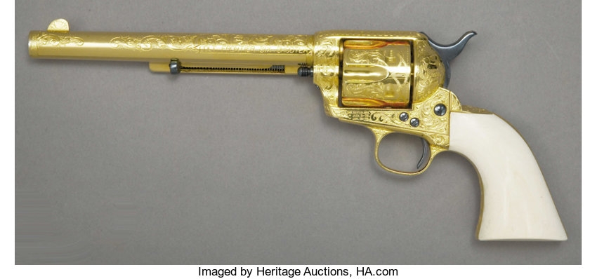 MAGNIFICENT ENGRAVED AND GOLD PLATED COLT REVOLVER - Serial number