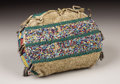 American Indian Art:Beadwork, A SIOUX BEADED HIDE MINIATURE TIPI BAG. . c.1890. ...