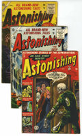 Golden Age (1938-1955):Horror, Astonishing Group (Atlas, 1952-56) Condition: Average VG-....(Total: 3 Comic Books)