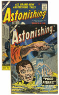 Golden Age (1938-1955):Horror, Astonishing #37 and 58 Group (Atlas, 1955-57).... (Total: 2 ComicBooks)
