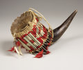 American Indian Art:Beadwork, A SIOUX QUILLED BUFFALO HORN. . c. 1890. ...