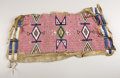 American Indian Art:Beadwork, A SIOUX BEADED HIDE FRAGMENT. c. 1900...