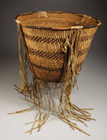 American Indian Art:Baskets, AN APACHE TWINED BURDEN BASKET. . c. 1890. ...
