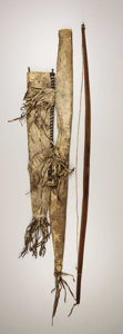 American Indian Art:Weapons, AN APACHE HIDE BOW CASE AND QUIVER. . c. 1880. ...