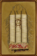 American Indian Art:Beadwork, A SIOUX MAN'S BREASTPLATE. c. 1890. ...