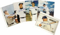 Baseball Collectibles:Programs, 1980's Mickey Mantle Signed Photographs Lot of 5. A terrific dealer's lot, though the fact that each of the five signed ima...
