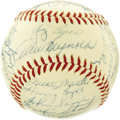 Autographs:Baseballs, 1954 New York Yankees Team Signed Baseball. Despite winning over one hundred games this season, this Yankee squad found its...