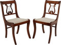 Political:Presidential Relics, White House Furniture: Pair of Music Room Chairs....