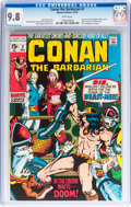 Bronze Age (1970-1979):Adventure, Conan the Barbarian #2 (Marvel, 1970) CGC NM/MT 9.8 White pages....