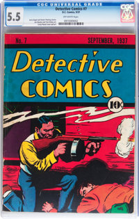 Detective Comics #7 (DC, 1937) CGC FN- 5.5 Off-white pages