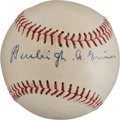 Autographs:Baseballs, Circa 1950 Burleigh Grimes Single Signed Baseball....