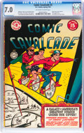 Golden Age (1938-1955):Superhero, Comic Cavalcade #2 (DC, 1943) CGC FN/VF 7.0 Off-white to white pages....