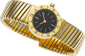Estate Jewelry:Watches, Bvlgari Lady's Gold Tubogas Integral Bracelet Wristwatch. ...