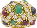 Estate Jewelry:Rings, Emerald, Ruby, Sapphire, Diamond, Gold Ring, Hammerman Bros.. ...