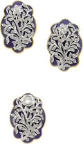 Estate Jewelry:Suites, Diamond, Enamel, Platinum, Gold Jewelry Suite. ... (Total: 2 Items)