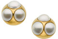Estate Jewelry:Earrings, Mabe Pearl, Gold Earrings, Paloma Picasso for Tiffany & Co.....