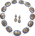 Estate Jewelry:Suites, Victorian Micromosaic, Gold Jewelry Suite . ...