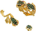 Estate Jewelry:Suites, Ruby, Emerald, Enamel, Gold Jewelry Suite, Boris Le Beau. ...