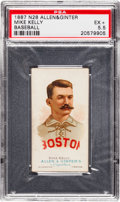 Baseball Cards:Singles (Pre-1930), 1887 N28 Allen & Ginter Mike Kelly PSA EX+ 5.5....