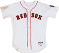 Baseball Collectibles:Uniforms, 2005 Cla Meredith Opening Day Game Issued Boston Red Sox Jersey....