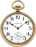 Timepieces:Pocket (post 1900), Hamilton 21 Jewel, Model 990, Circa 1910. ...