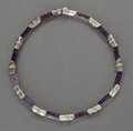 Silver Smalls:Other , AN ANTONIO PINEDA MEXICAN SILVER AND AMETHYST NECKLACE . AntonioPineda, Taxco, Mexico, circa 1953. Marks: (Antonio-crown), ...