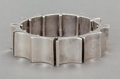 Silver Smalls:Other , AN ANTONIO PINEDA MEXICAN SILVER CUFF . Antonio Pineda, Taxco,Mexico, circa 1953. Marks: (Antonio-crown), STERLING,MEXIC...
