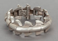Silver Smalls:Other , AN ANTONIO PINEDA MEXICAN SILVER BRACELET . Antonio Pineda, Taxco,Mexico, circa 1953. Marks: (Antonio-crown), STERLING, ...
