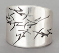 Silver Smalls:Other , AN ANTONIO PINEDA MEXICAN SILVER CUFF . Antonio Pineda, Taxco,Mexico, circa 1955. Marks: (Antonio-crown), 970, SILVER,HE...