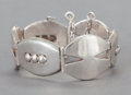 Silver Smalls:Other , AN ANTONIO PINEDA MEXICAN SILVER BRACELET . Antonio Pineda, Taxco,Mexico, circa 1953. Marks: (Antonio-crown), SILVER, MEX...
