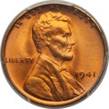Lincoln Cents: , 1941 1C MS67 Red PCGS. CAC. PCGS Population (191/1). NGC Census:(755/0). Mintage: 887,039,104. Numismedia Wsl. Price for p...