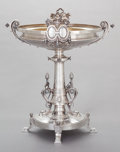 Silver Holloware, American:Center Pieces, AN AMERICAN COIN SILVER FOOTED MEDALLION CENTERPIECE, ATTRIBUTED TOJOHN WENDT. John R. Wendt & Co., New York, New York, cir...