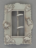 Silver Smalls:Buckles, A GEORGE W. SHIEBLER SILVER BELT BUCKLE . George W. Shiebler &Co., New York, New York, circa 1900. Marks: (winged S),STE...