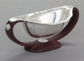 Silver & Vertu:Hollowware, A WILLIAM SPRATLING MEXICAN SILVER AND ROSEWOOD SAUCE BOWL. William Spratling, Taxco, Mexico, circa 1965-1967. Marks: WS ...