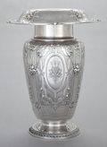 Silver Holloware, American:Vases, A GORHAM SILVER VASE. Gorham Manufacturing Co., Providence, RhodeIsland, circa 1900. Marks: (lion-anchor-G), STERLING, KZ...