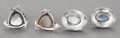 Silver Smalls:Other , TWO PAIRS OF ANTONIO PINEDA MEXICAN SILVER AND MOONSTONE CUFFLINKS. Antonio Pineda, Taxco, Mexico, circa 1953. Marks: (Anto...(Total: 4 Items)