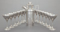 Silver Holloware, American, A THIRTEEN PIECE LEBOLT & CO. SILVER MARTINI BEVERAGE SET.Lebolt & Co., Chicago, Illinois, circa 1920. Marks to shaker:(L ... (Total: 13 Items)