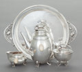 Silver Holloware, American, A FOUR PIECE WILLIAM DE MATTEO COFFEE SERVICE . William de Matteo,Bergenfeld, New Jersey, late 20th century. Marks: GUMPS...(Total: 4 Items)