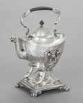 Silver Holloware, American:Hot Water Kettles , A TIFFANY & CO. SILVER HOT WATER KETTLE ON STAND. Tiffany &Co., New York, New York, circa 1886-1887. Marks: TIFFANY &CO.... (Total: 3 Items)