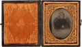 Photography:Ambrotypes, Winfield Scott: Cased Ninth Plate Ambrotype....