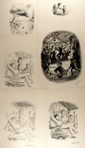 Books:Original Art, Garth Williams (1912-1996), illustrator. SIGNED. Group ofPreliminary Ink and Pencil Studies for Robert Fontaine's TheH...
