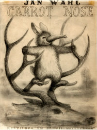 Garth Williams (1912-1996), illustrator. Preliminary Pencil Cover Art for Jan Wahl's Carrot Nose, <