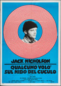 """Movie Posters:Academy Award Winners, One Flew Over the Cuckoo's Nest (United Artists, R-1970s). Italian2 - Foglio (39"""" X 55""""). Academy Award Winners.. ..."""